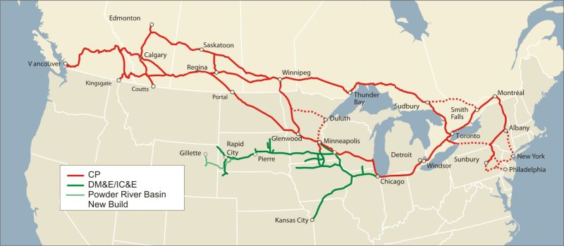 PWRS Pacific Western Rail Systems - Map of the railroad system in the us