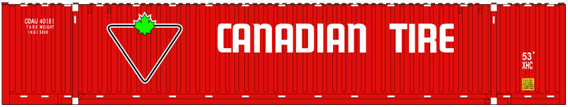 Canadian Tire 53 ft Container Artwork N Scale