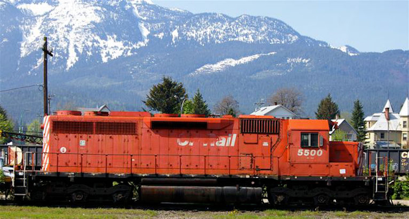 SD40 CP 5500 right side