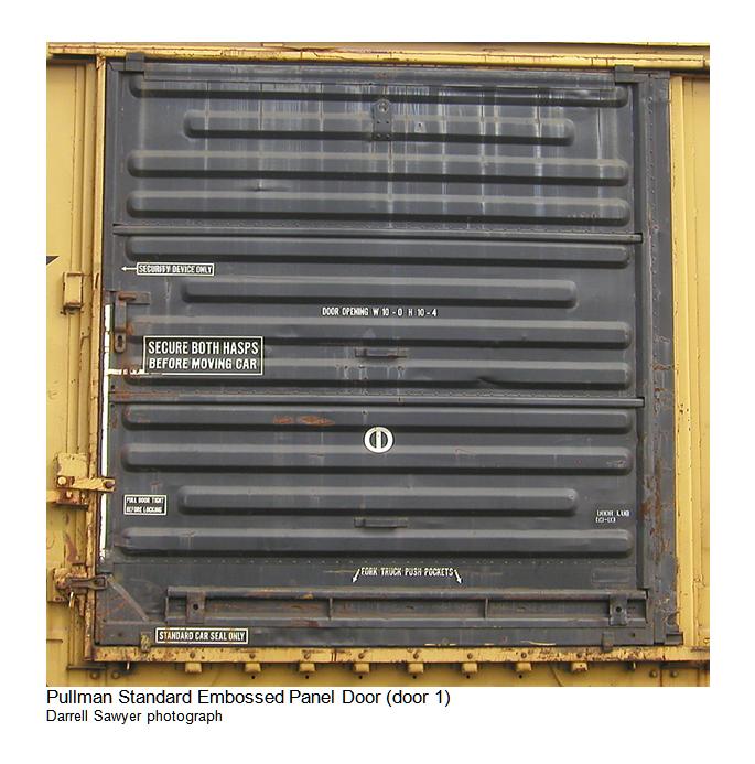 Pullman Standard Embossed Panel Door