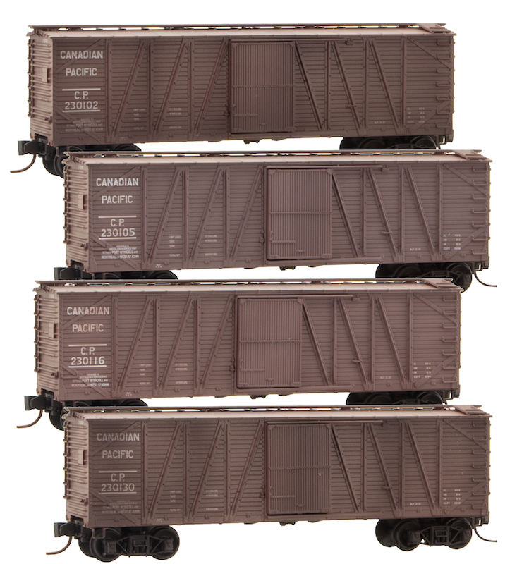 Micro Trains CPR Special Run CPR Wooden Boxcars