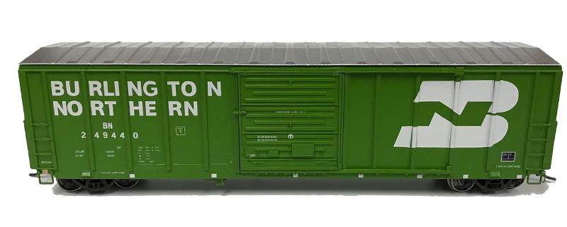 NARC 5077 Pullman Standard Boxcars - Burlington Northern BN - Side View