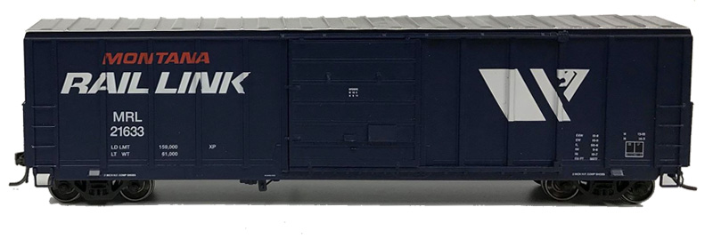 NARC 5077 Pullman Standard Boxcars - Montana Rail Link - Side View