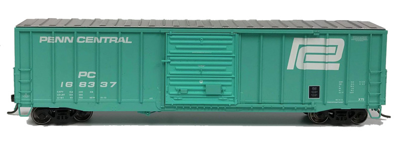 NARC 5077 Pullman Standard Boxcars - Penn Central - Side View