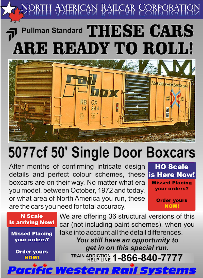 PWRS 5077 PS Boxcars arriving Now!