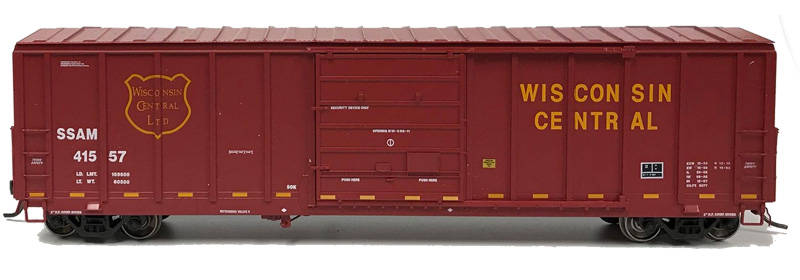 NARC 5077 Pullman Standard Boxcars - Wisconsin Central LTD - Side View