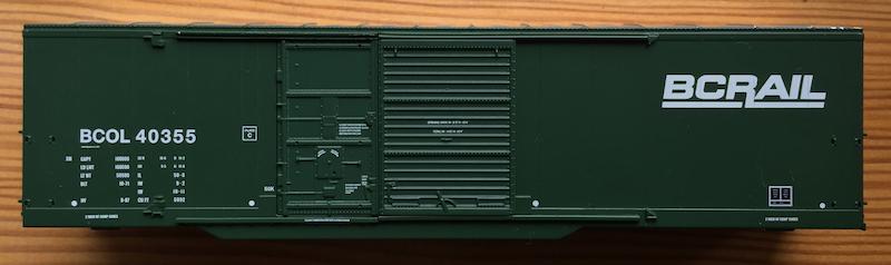 BCOL 40355 Dark Green BC Rail