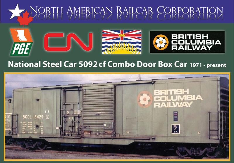 5092 BC Rail Boxcars
