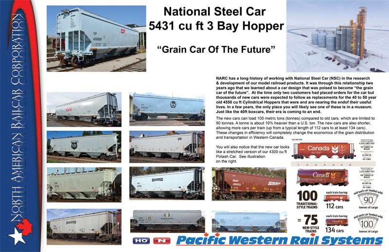 NARC - National Steel Car NSC 5431cuft 3 Bay Hopper