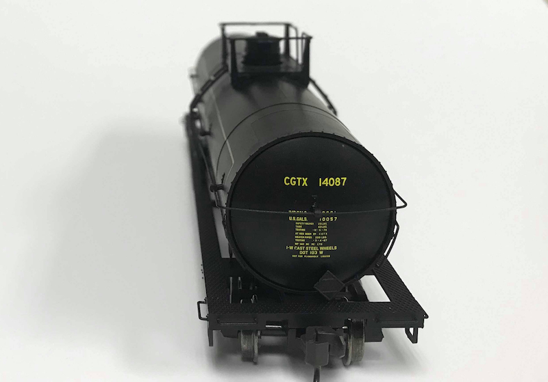 End Hatch of PWRS Exclusive Atlas British Columbia Tank Car