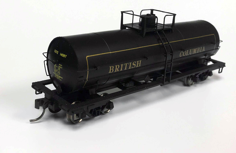 Side View of PWRS Exclusive Atlas British Columbia Tank Car