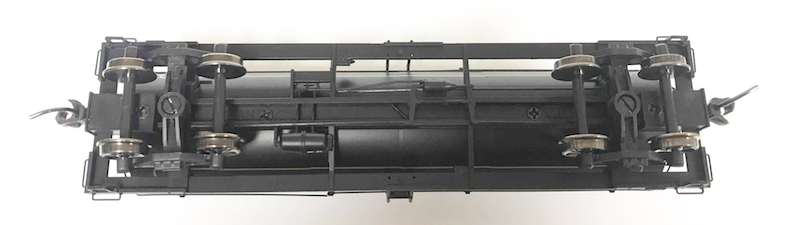 Undercarriage of PWRS Exclusive Atlas British Columbia Tank Car