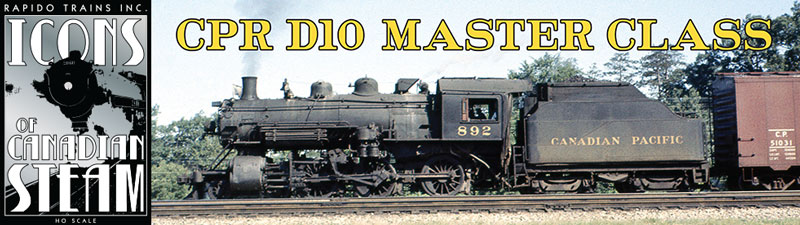 Rapido Steam HO Scale 4-6-0 D10 Title Page Side Image