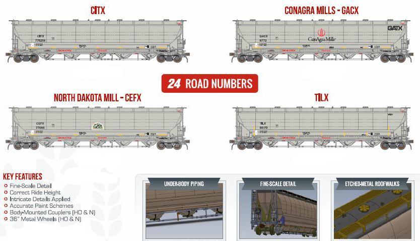 BLMA Models HO Scale 54015 CEFX North Dakota Mill Trinity