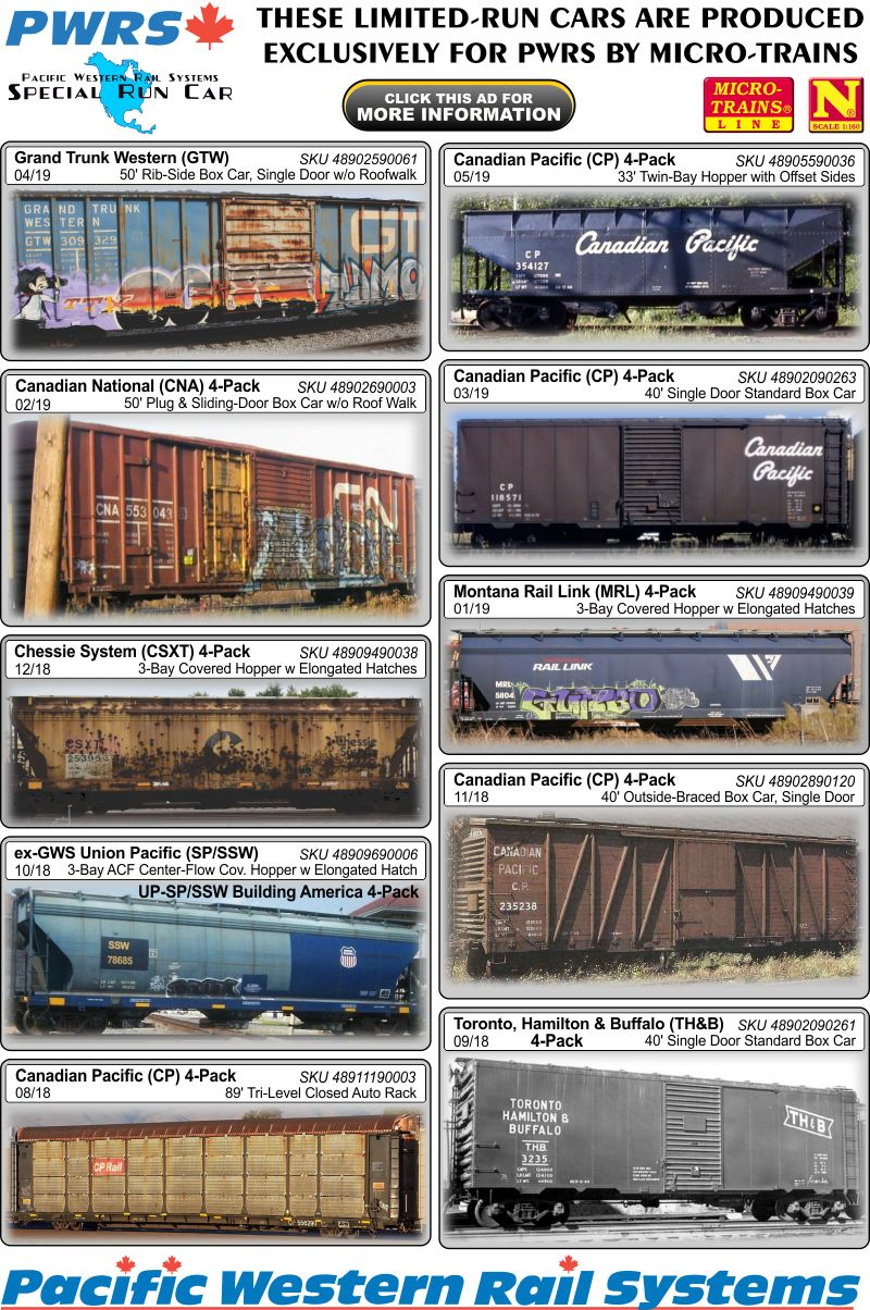 Micro Trains New Release Flyer Oct 2018