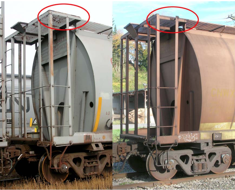 Comparison of MIL and HST Side Frame