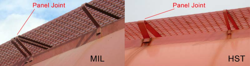 Comparison of MIL and HST running board supports