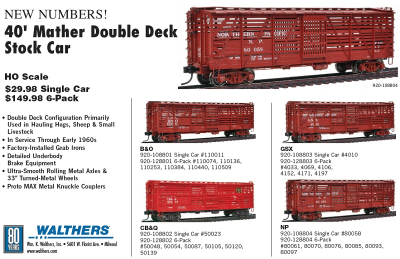 Stock Car Products: PWRS Pacific Western Rail Systems