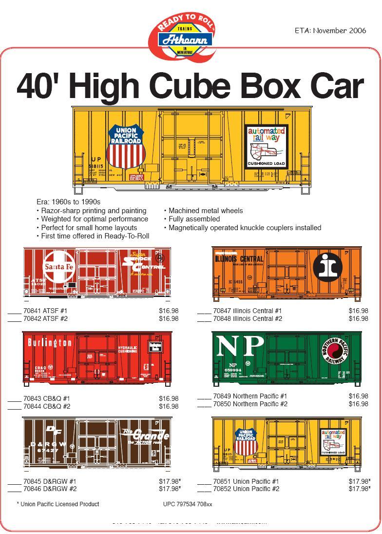 Ath HO high cube boxcars