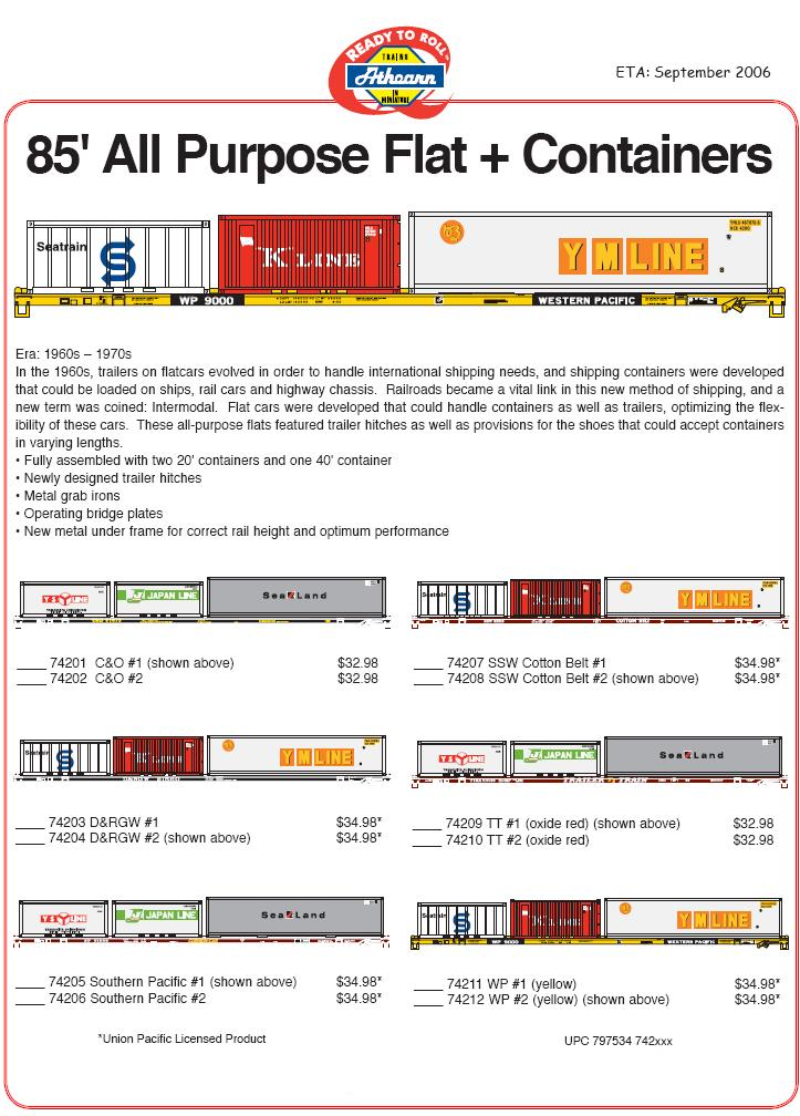 Athearn 5 23 06 Container Flat