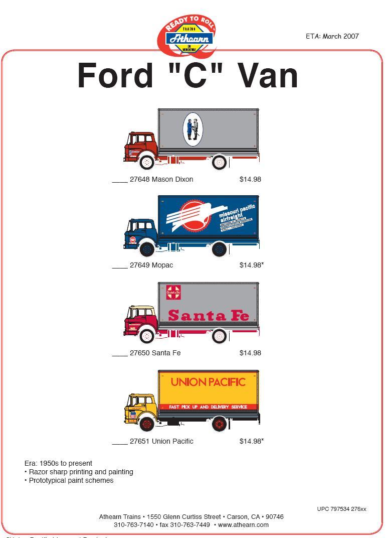 Athearn HO Ford Van