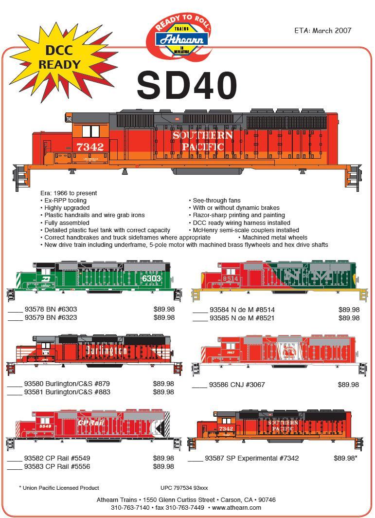Athearn HO SD40