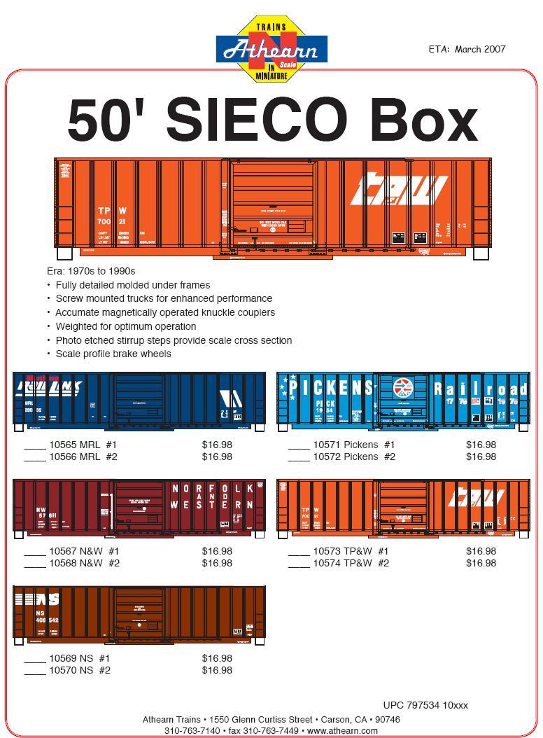 Athearn Sieco Box N