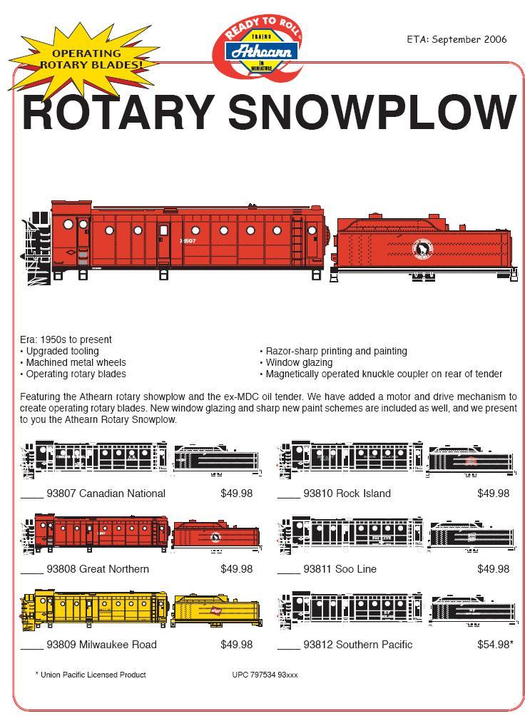 Athearn flyer rotary 5 06