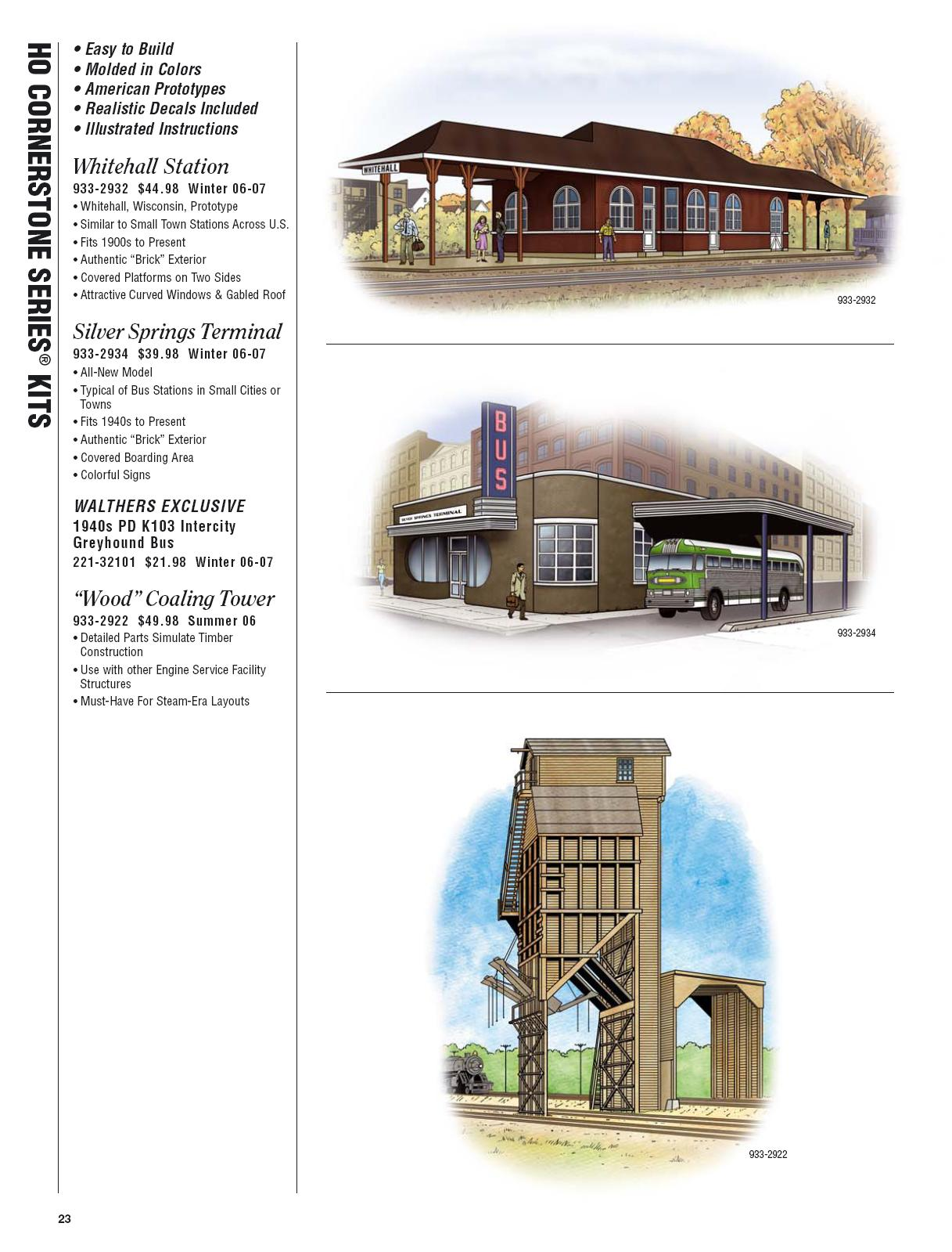 Walthers 2006 Cataloge Buildings page 3