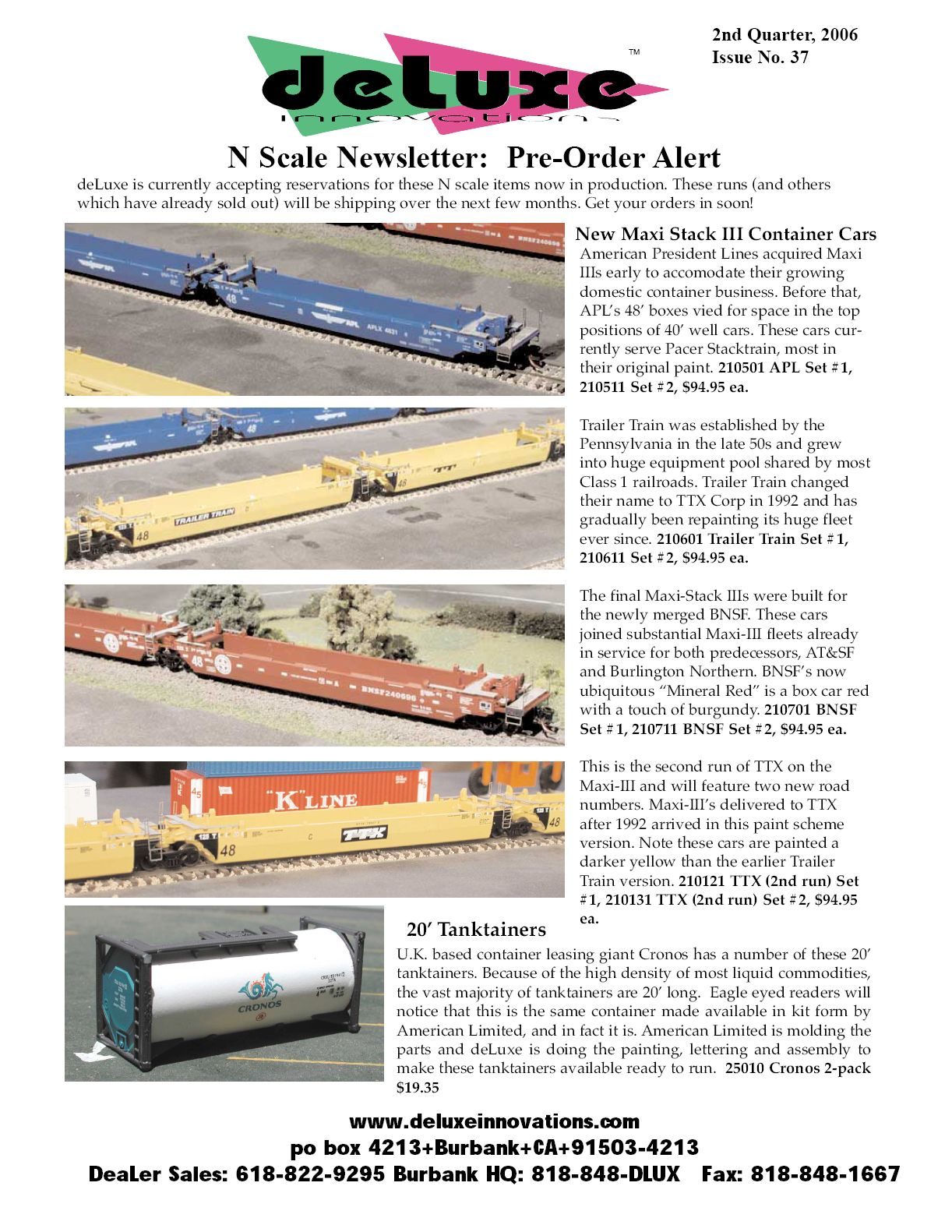 Deluxe 2nd Quarter Newletter May 2006 Page 1