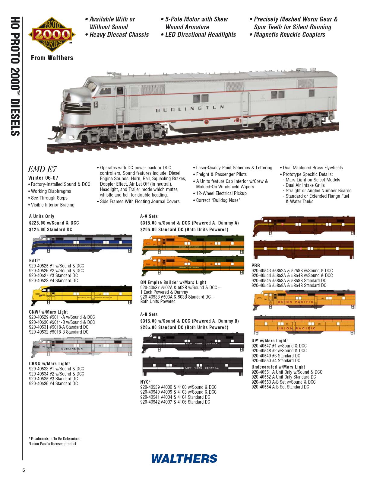 Walthers 2006 Cataloge Diesels page 2