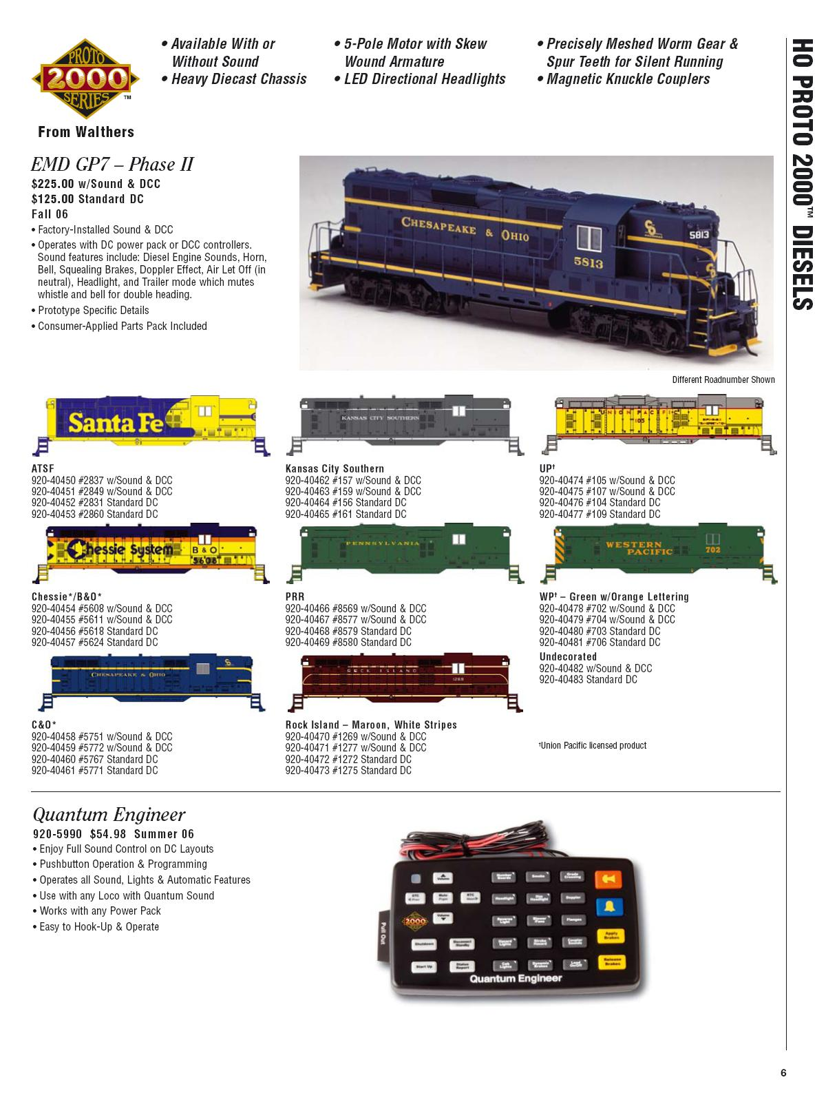 Walthers 2006 Cataloge Diesels page 3