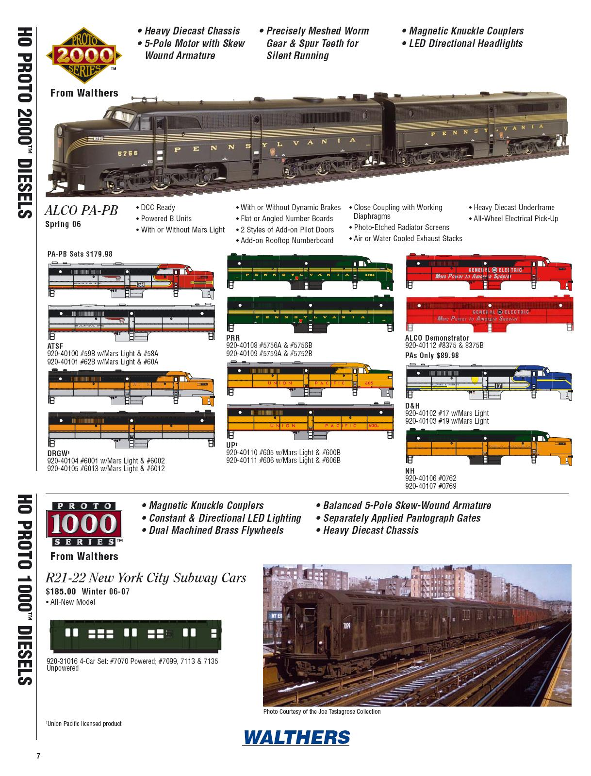 Walthers 2006 Cataloge Diesels page 4
