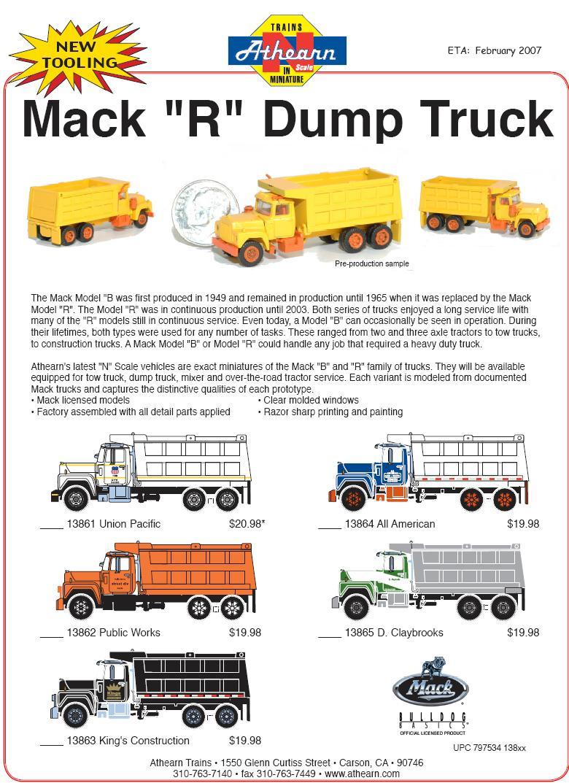 Athearn N Scale Dump Truck