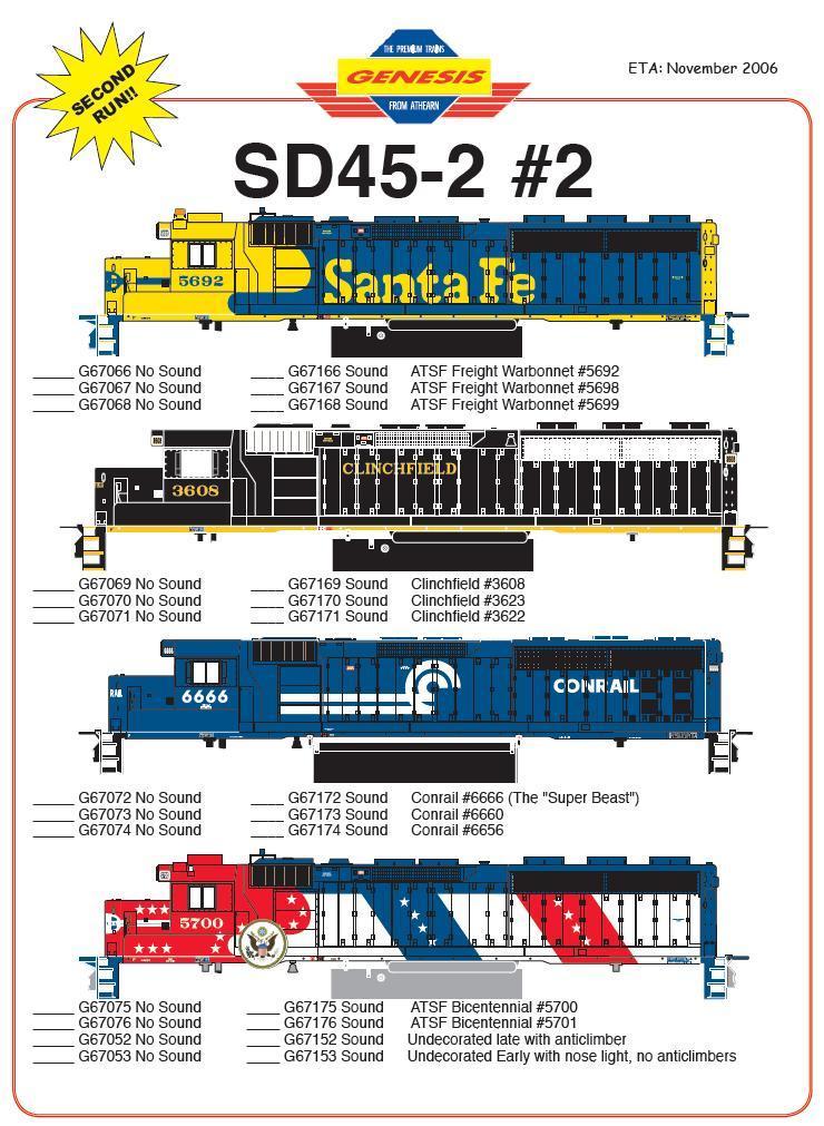 HO 141 SD45-2 67066 &