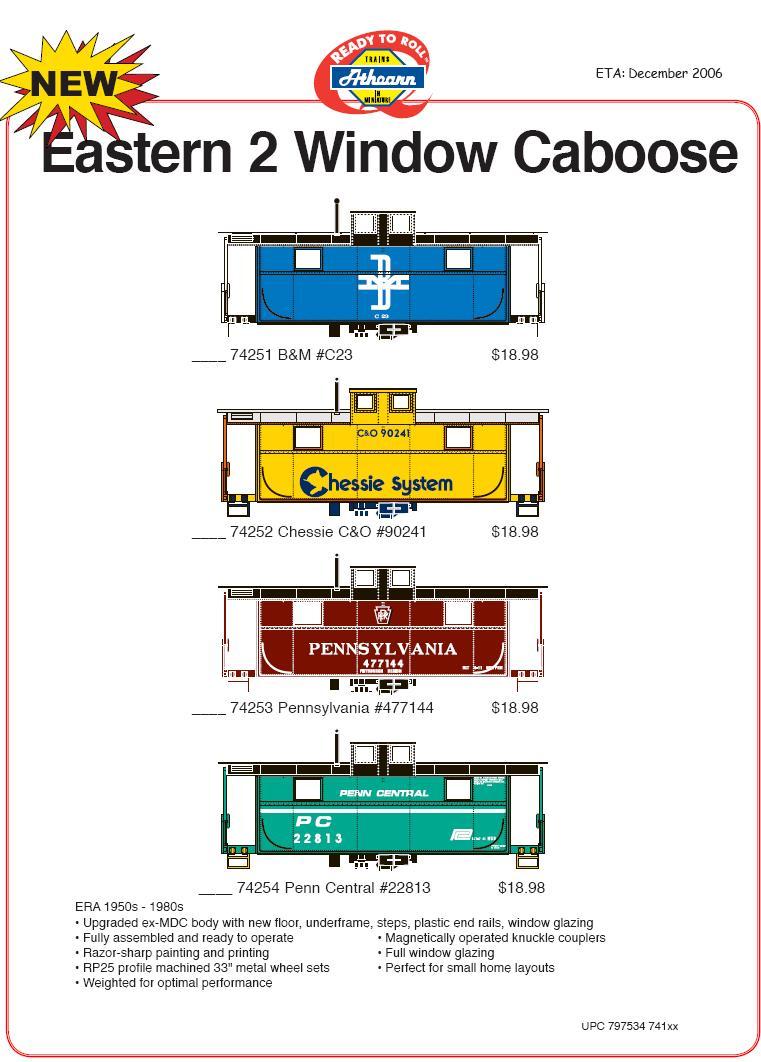 HO 2 window caboose