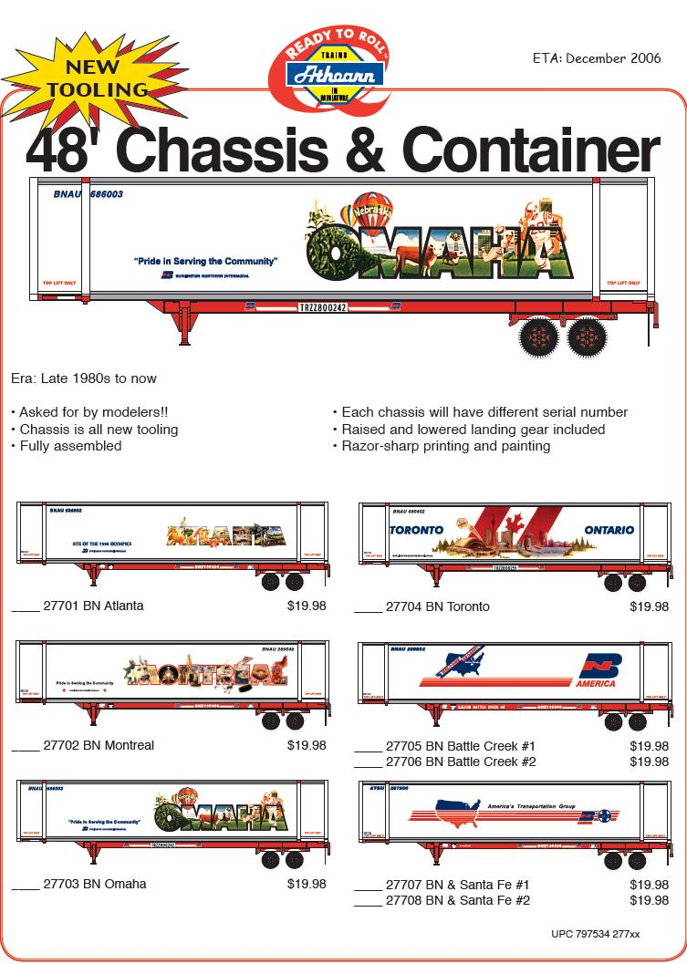 HO 48 Chassis & container