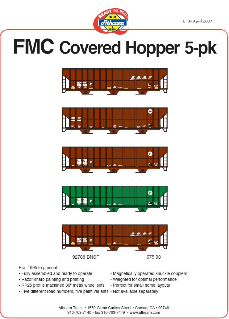 HO FMC covered hopper