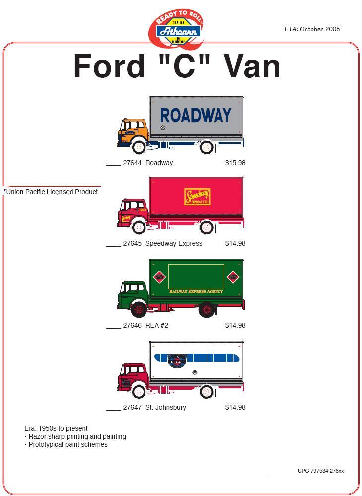 HO 140-Ford C Vans