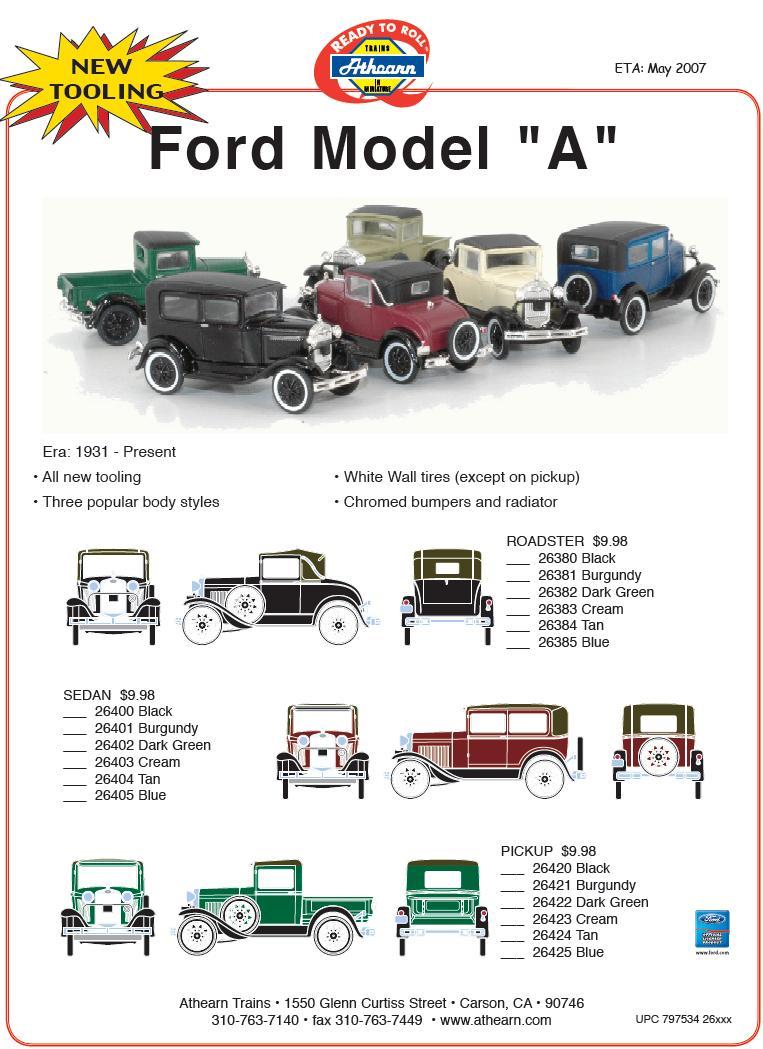 HO Ford Model A