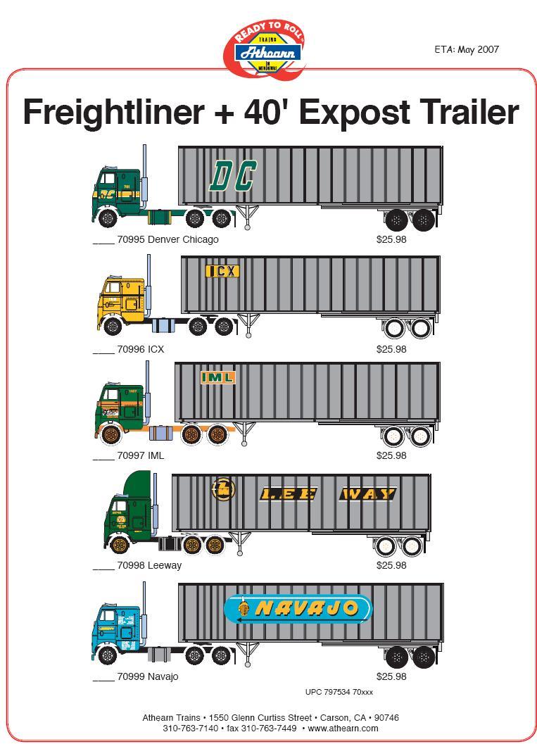 HO Freightliner 40 expost