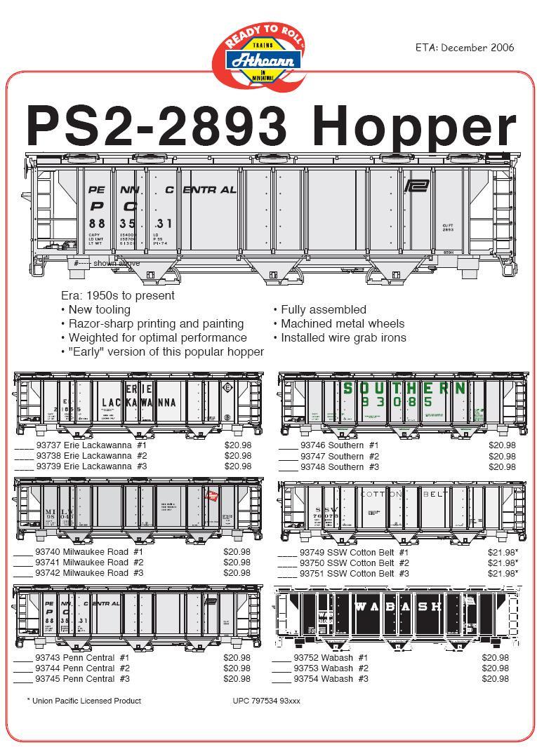 HO PS2893 hoppers
