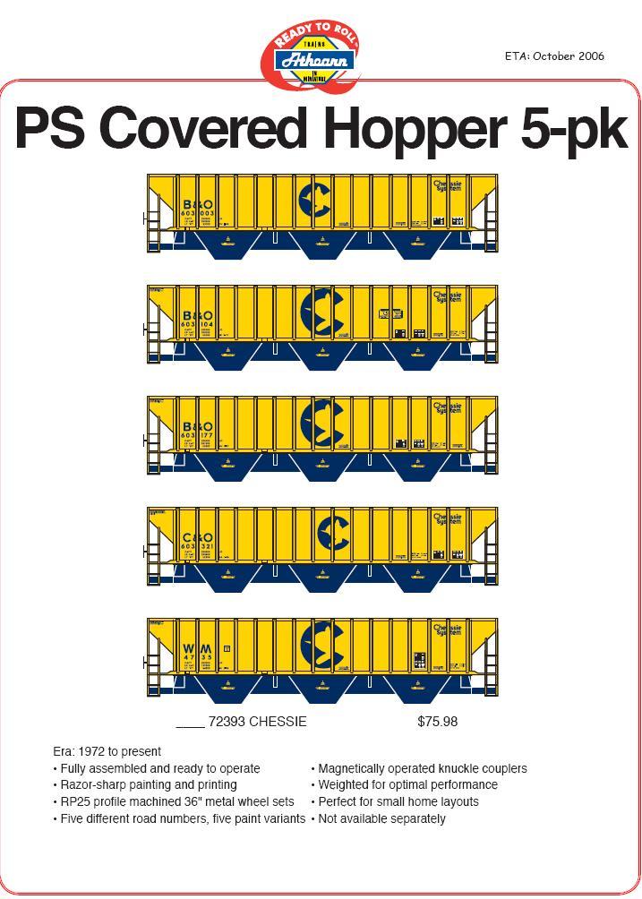 HO 140- PS Hopper 5 pk
