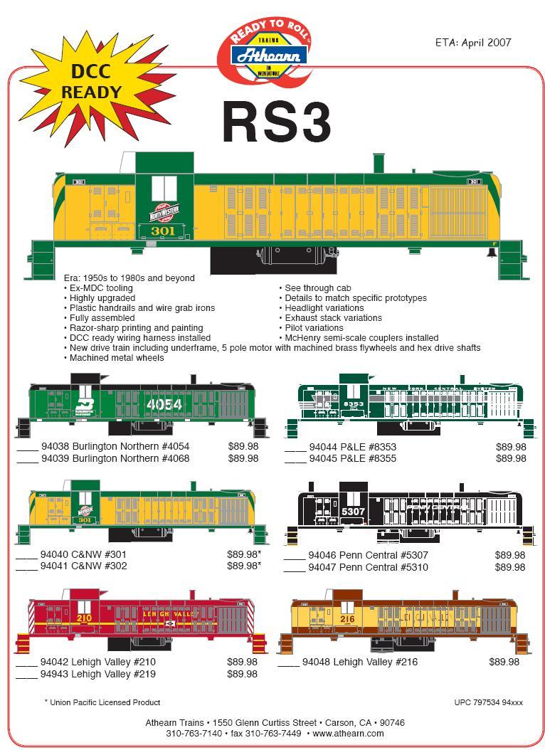 HO RS3s