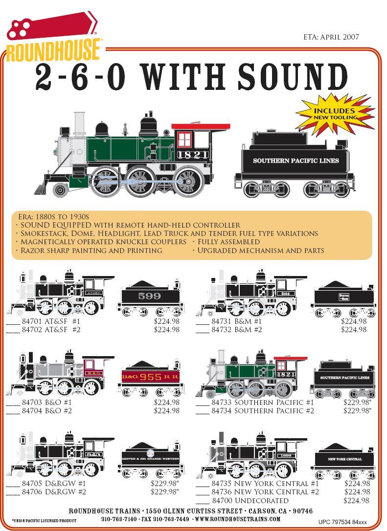 HO Steam 2-6-0 w sound