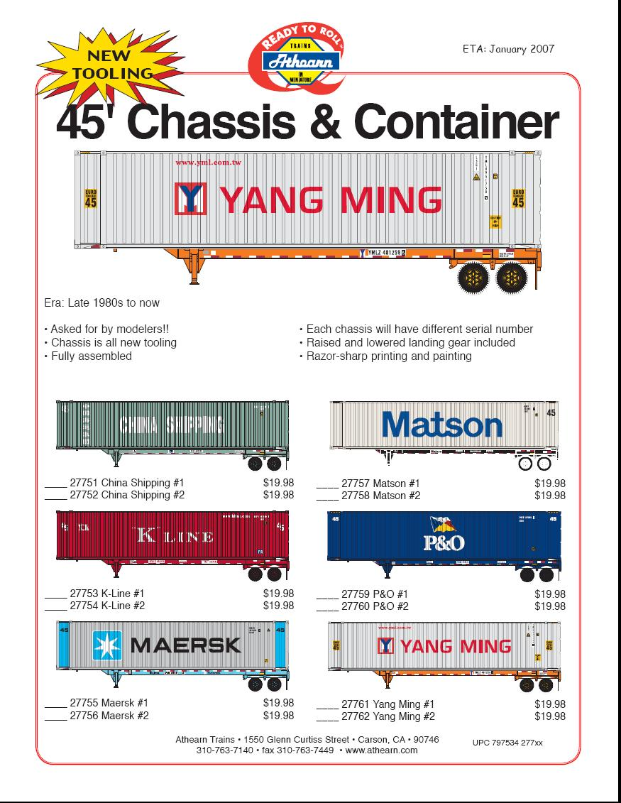 HO Chassis & containers