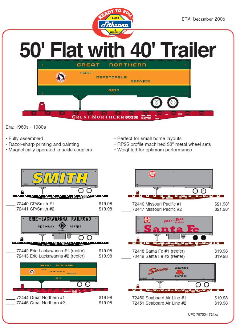 HO Flat and trailer