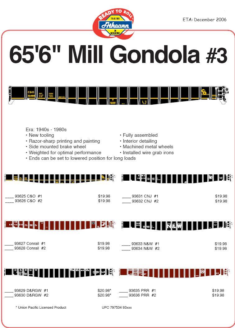 HO mill gondolas