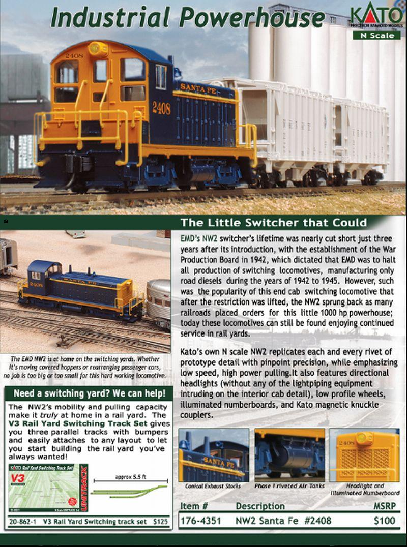 Kato NW2 Flyer N Scale Jan 2007