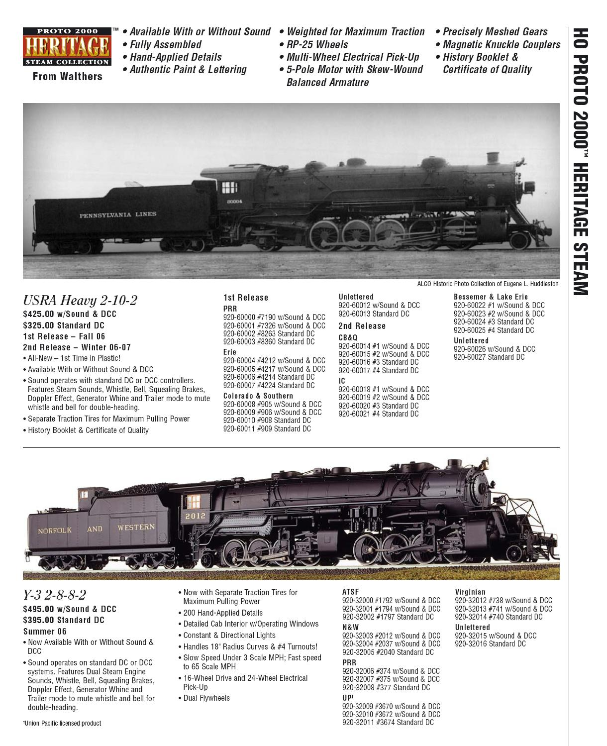Walthers 2006 Cataloge steam page 1